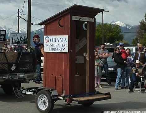 Republican Obama Library Outhouse