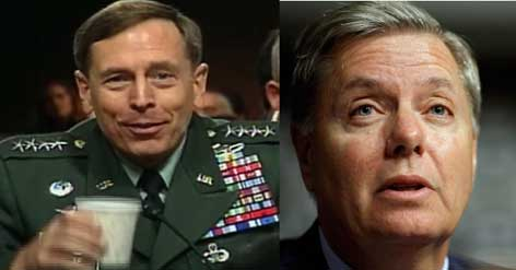 CIA adulterer General Patreaus and Lindsay graham