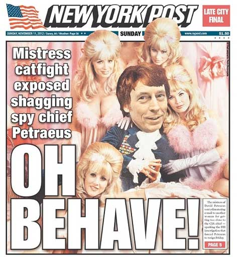 David Patraeus Shaggin at the New York Post