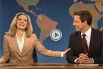 arianna huffington and seth meyers