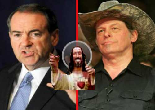 Huckabee, Nugent and Jesus