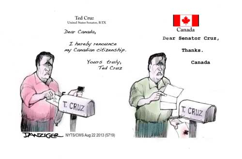 ted cruz no canadian