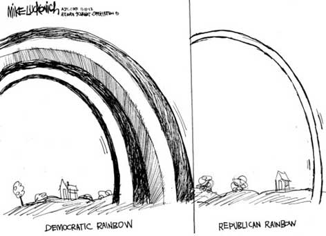 white rainbows, lukovich cartoon