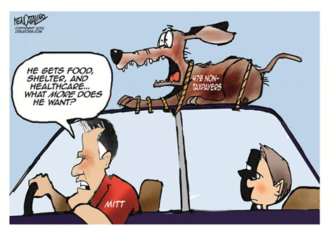 mitt romney 47% on top of his car