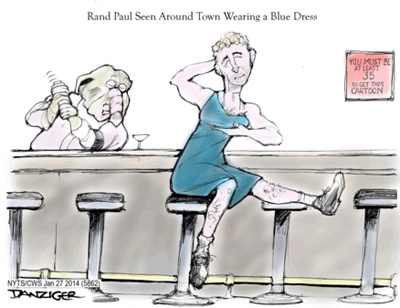 rand paul in blue dress