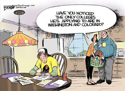 college pot enrollment