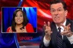 stephen colbert makes fool of andrea Tantaros