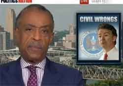 al sharpton calls out rand paul on race