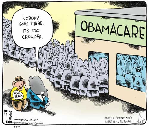 Image result for satire cartoon about obamacare