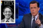 stephen Colbert Harvey Milk stamp