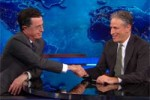 stephen colbert says goodbye to Jon Stewart