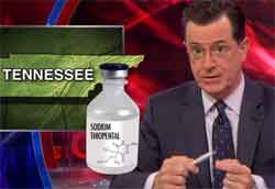 Stephen Colbert Tennessee death penalty