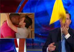 Stephen Colbert calls penalty of Michael Sam kiss
