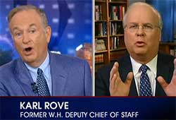bill o'reilly versus karl Rove va