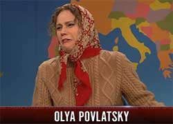snl weekend update with Olya