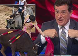 Stephen Colbert  a  white hispanic