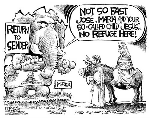 Jesus go home! Darkow cartoon