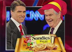 elves rick perry and newt gingrich