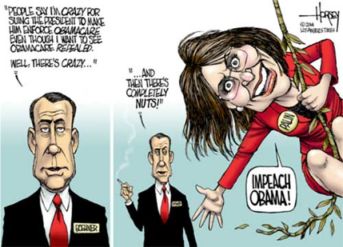 Impeachment call by Sarah Palin nuts