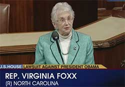 virginia foxx is a liar