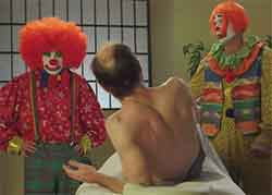 two clowns massage