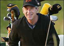 George W. Bush golfing fool