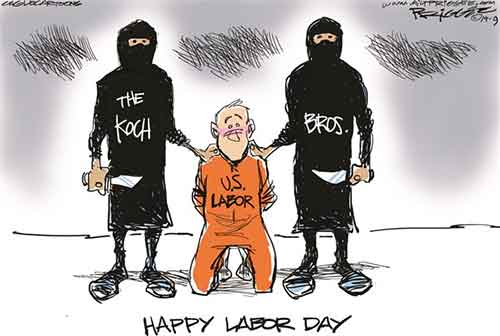 Koch Brothers celebrate Labor day