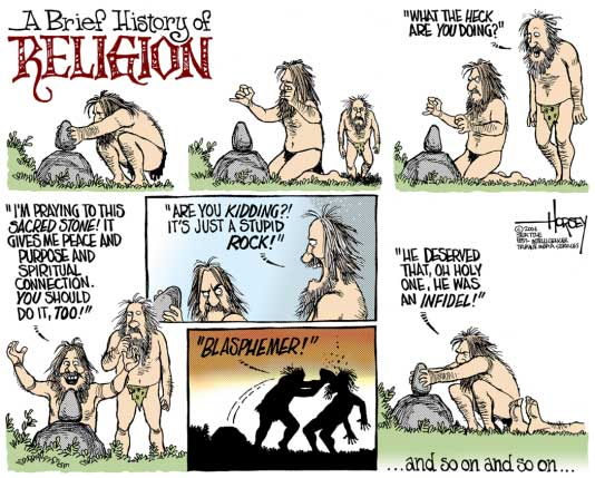 Religion, a rock to hit with