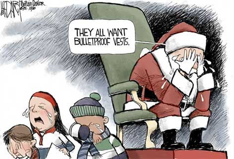 santa claus cries for children
