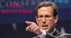 santorum points at women