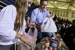 Food gathered at Romney  impromptu  Ohio Rally for storm victims goes to swing states, not New York or New Jersey