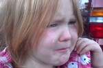 Tearful Colorado  tot 4-year-old Abigael Evans worn down by election, Tired of 'Bronco Obama' and Mitt Romney