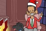 Mark Fiore animated political cartoon: The Twelve Days of Cliffmas, John Boehner tries to give  Obama a goose, some grief, but no tax hike for the wealthy..