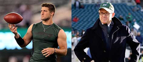 tim tebow and woody johnson
