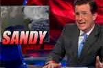 Hurricane Sandy is gay, stephen colbert