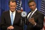 snl, Obama cool boehner cries